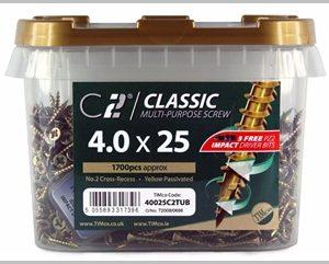 Timco C2 Screws 4.0 x 25mm