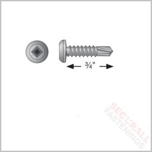 Quik Drive FPHSD19E1016 19mm Metal Steel Frame Screws silver