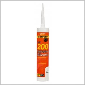 Everbuild 200 Contractors Silicone Sealant white