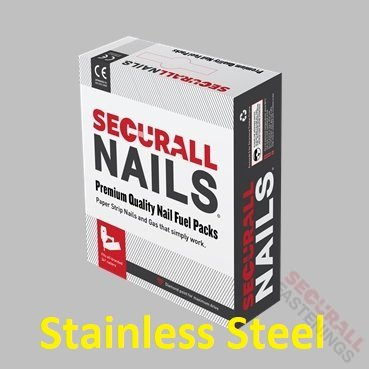 63mm Stainless Steel Nails Fuel Pack