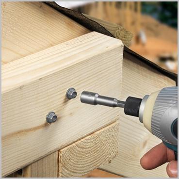 8 X 200mm Hex Timber Screws