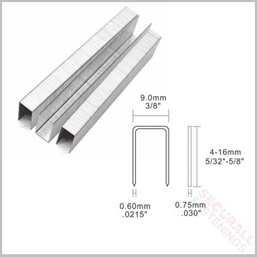 71 4mm Stainless Steel Upholstery Staples