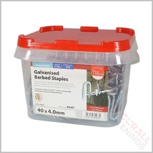 Barbed Staples 40mm 2.5kg Tub