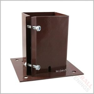 Bolt Down Shoe Fence Supports 150mm 6 inch