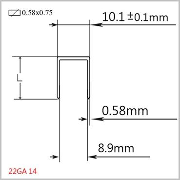 Haubold 14-12mm Upholstery Staples