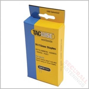 Tacwise 91 15mm Staples