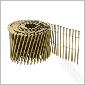 2.8 x 75mm coil nails ring shanked