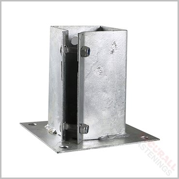 100mm 4 Inch Hot Dipped Galvanised Fence Shoe Support