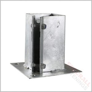 75mm 3 Inch Hot Dipped Galvanised Fence Shoe Support