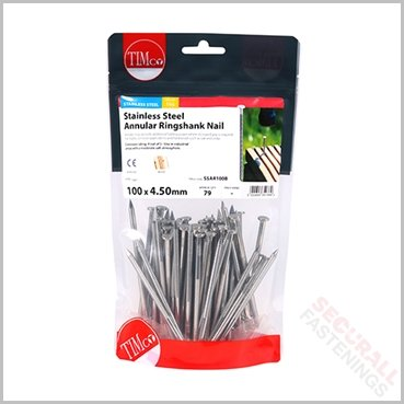 100mm Stainless Steel Ringshank Nails