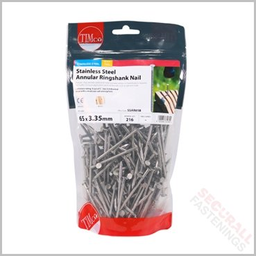 65mm Stainless Steel Ringshank Nails
